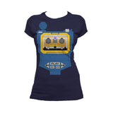 Transformers Cosplay Soundwave Official Women's T-shirt (Navy) - Urban Species Ladies Short Sleeved T-Shirt