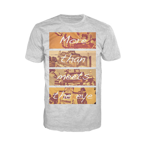 Cool New Transformers More Than Meets The Eye Official Men's T-shirt (Heather Grey) - Urban Species