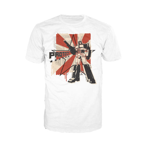 Cool New Transformers Prima-ganda Official Men's T-shirt (White) - Urban Species