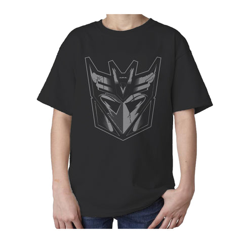 Transformers Decepticon Shield Official Kid's T-Shirt (Black) - Urban Species Kids Short Sleeved T-Shirt
