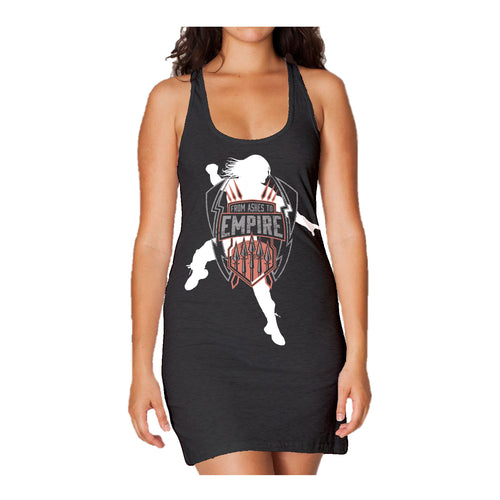 Cool New WWE Roman Reigns Empire Logo Official Women's Long Tank Dress (Black) - Urban Species Ladies Long Tank Dress