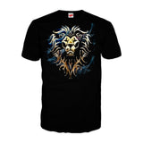 Warcraft Alliance Logo Saturated Official Men's T-shirt (Black)