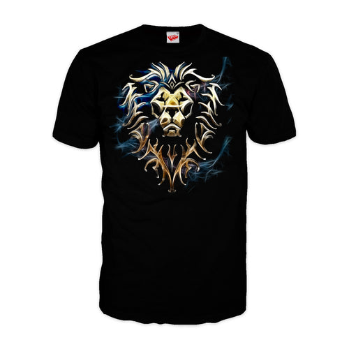 Cool New Warcraft Alliance Logo Saturated Official Men's T-shirt (Black) - Urban Species Mens Short Sleeved T-Shirt