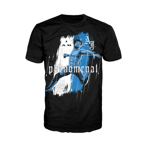 WWE AJ Styles Comic Phenomenal Official Men's T-shirt (Black) - Urban Species Mens Short Sleeved T-Shirt