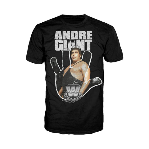 Cool New WWE Andre The Giant Logo Hand Official Men's T-shirt (Black) - Urban Species Mens Short Sleeved T-Shirt
