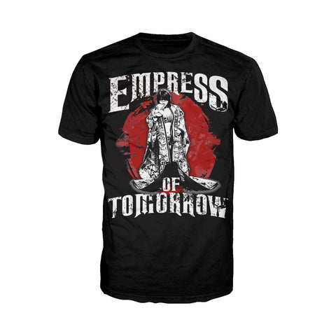 WWE Asuka Pose Empress Tomorrow Official Men's T-shirt (Black) - Urban Species Mens Short Sleeved T-Shirt