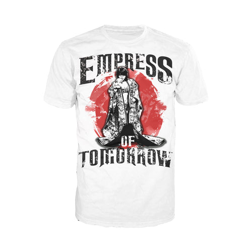 WWE Asuka Pose Empress Tomorrow Official Men's T-shirt (White) - Urban Species Mens Short Sleeved T-Shirt