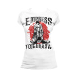Cool New WWE Asuka Pose Empress Tomorrow Official Women's T-shirt (White) - Urban Species Ladies Short Sleeved T-Shirt