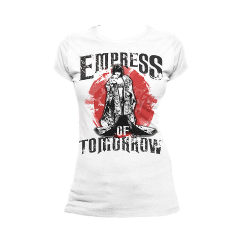 WWE Asuka Pose Empress Tomorrow Official Women's T-shirt (White) - Urban Species Ladies Short Sleeved T-Shirt
