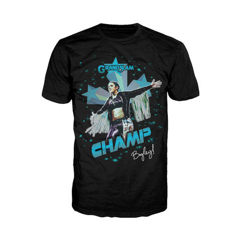 US WWE Bayley Grand Slam Official Men's T-Shirt (Black) - Urban Species Mens Short Sleeved T-Shirt