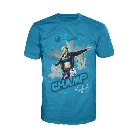 US WWE Bayley Grand Slam Official Men's T-Shirt (Turquoise) - Urban Species Mens Short Sleeved T-Shirt