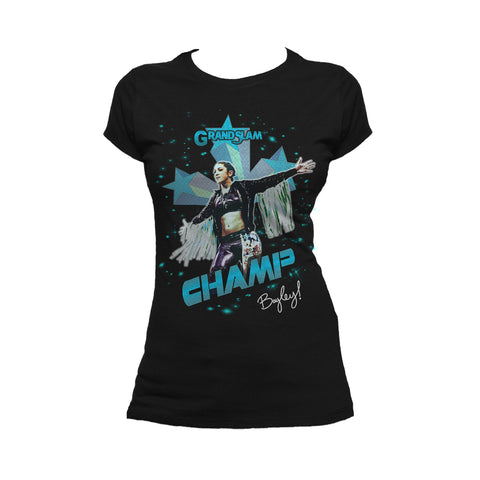 US WWE Bayley Grand Slam Official Women's T-Shirt (Black) - Urban Species Ladies Short Sleeved T-Shirt