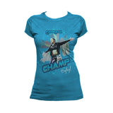 US WWE Bayley Grand Slam Official Women's T-Shirt (Turquoise)