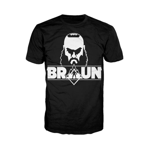 WWE Braun Strowman Logo Head Official Men's T-shirt (Black) - Urban Species Mens Short Sleeved T-Shirt