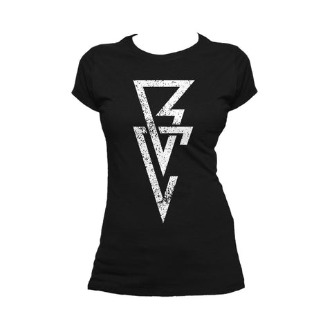 WWE Finn Balor Logo Triangle Official Women's T-shirt (Black) - Urban Species Ladies Short Sleeved T-Shirt