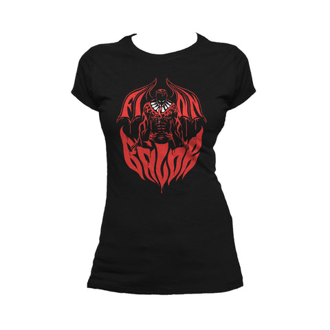 WWE Finn Balor Bat Out Of Hell Official Women's T-shirt (Black) - Urban Species Ladies Short Sleeved T-Shirt