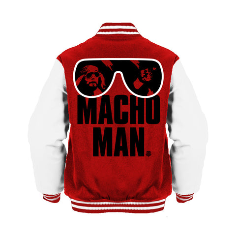 WWE Macho Man Shades Official Varsity Jacket (Red) - Urban Species Varsity Jacket