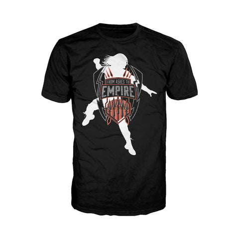 WWE Roman Reigns Logo Empire Official Men's T-shirt (Black) - Urban Species Mens Short Sleeved T-Shirt