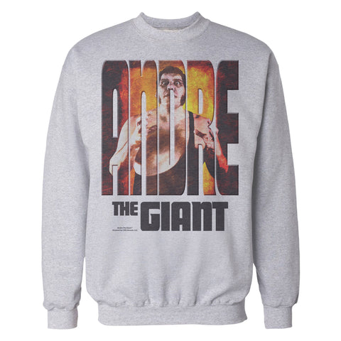 WWE Andre The Giant Splash GIANT Official Sweatshirt (Heather Grey) - Urban Species Sweatshirt