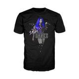 US WWE Sasha Banks Atomic Blue Official Men's T-Shirt (Black)