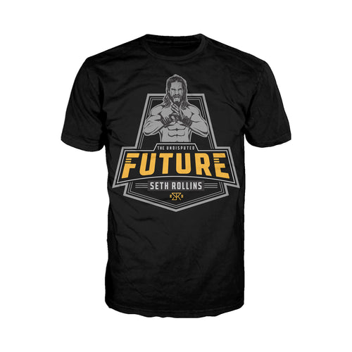 Cool New WWE Seth Rollins Logo Future Badge Official Men's T-shirt (Black) - Urban Species Mens Short Sleeved T-Shirt