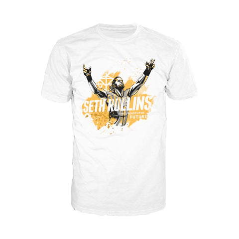 WWE Seth Rollins Undisputed Future Official Men's T-shirt (White) - Urban Species Mens Short Sleeved T-Shirt