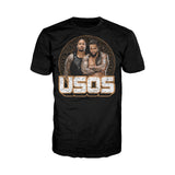 Cool New WWE USOS Logo Tribal Shield Official Men's T-shirt (Black) - Urban Species Mens Short Sleeved T-Shirt