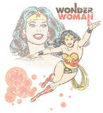 DC Comics Wonder Woman Retro Official Women's T-shirt (White) - Urban Species Ladies Short Sleeved T-Shirt