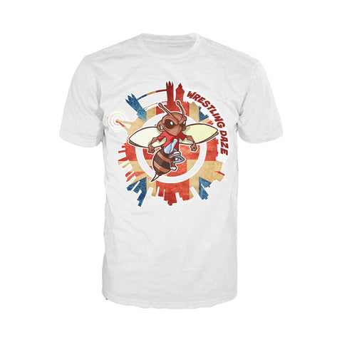Urban Species Wrestling Daze Splash London Official Men's T-Shirt (White)