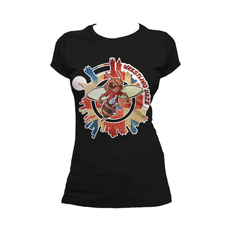 Urban Species Wrestling Daze Splash London Official Women's T-Shirt (Black)