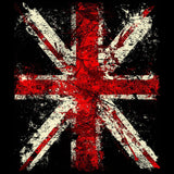 London Union Jack Distressed Men's T-shirt (Black)
