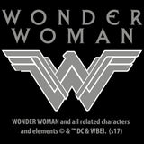 DC Wonder Woman Logo 3D Shield Official Women's T-shirt (Black)