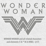 DC Wonder Woman Diamond Grace Official Women's T-shirt (Heather Grey) - Urban Species Ladies Short Sleeved T-Shirt