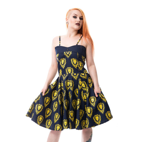 Warcraft Alliance Logo Repeat Official Women's Dress (Blue)