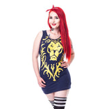 Warcraft Alliance Logo Lion Official Women's Dress (Blue)