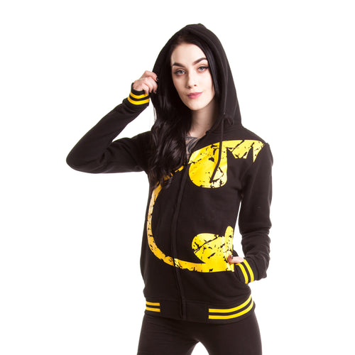 DC Comics Bat Wing Official Women's Hoodie (Black) - Urban Species Ladies Hoodie