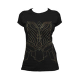 DC Wonder Woman Cosplay Official Women's T-shirt (Black) - Urban Species Ladies Short Sleeved T-Shirt