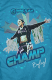 WWE Bayley Grand Slam Official Women's T-Shirt (Turquoise)