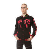 Warcraft Horde No Turning Back Official Varsity Jacket (Black) - Urban Species Mens Varsity Jacket