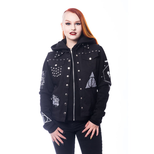Harry Potter Knight Jacket Ladies (Black) - Urban Species Ladies Hoodie
