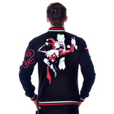DC Comics Joker Toxic Love Official Varsity Jacket (Black) - Urban Species Mens Varsity Jacket