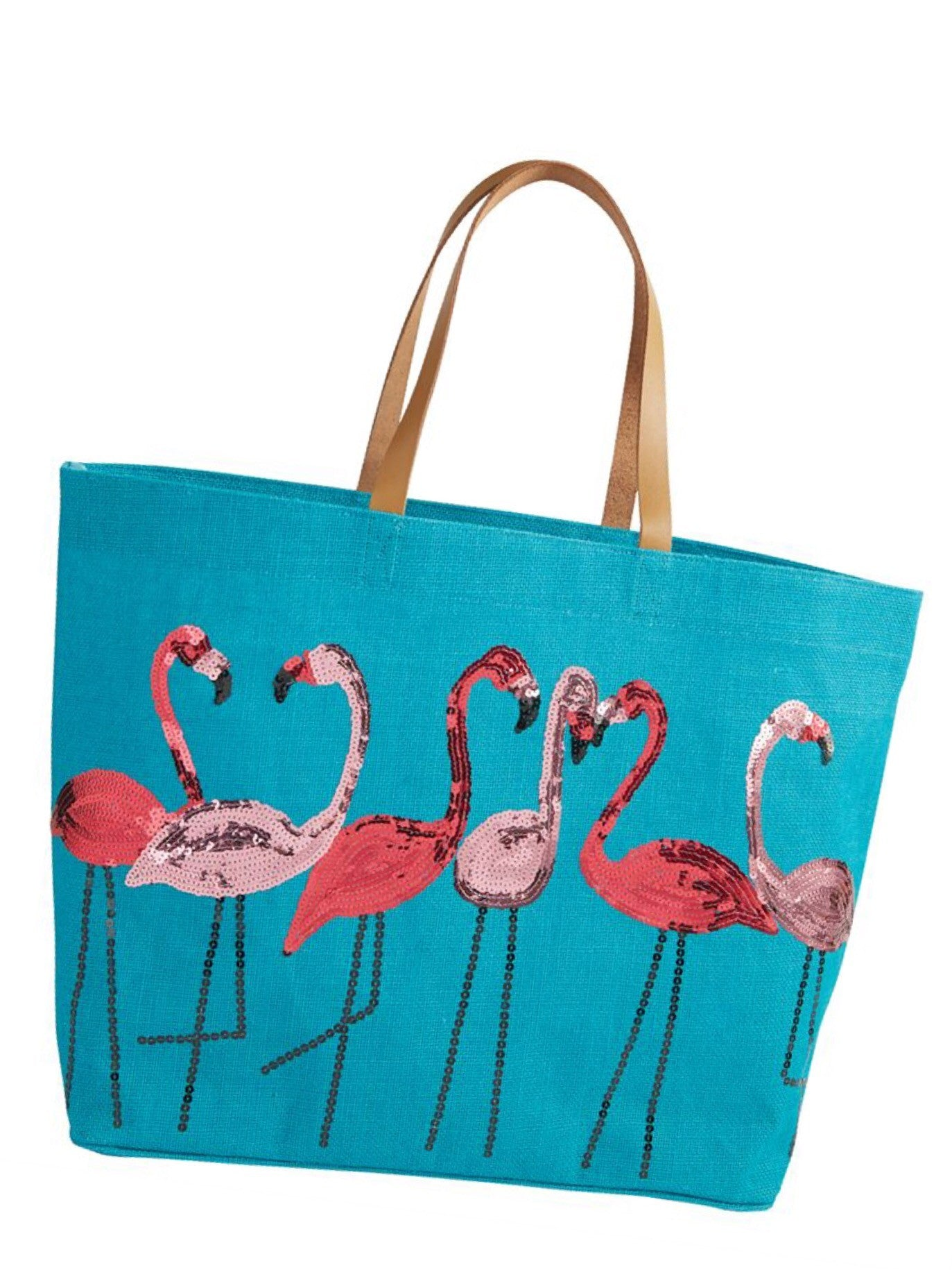 Flamingo Dazzle beach tote - Let's Beach