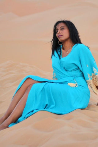 CRESSIDA WRAP KAFTAN - Let's Beach