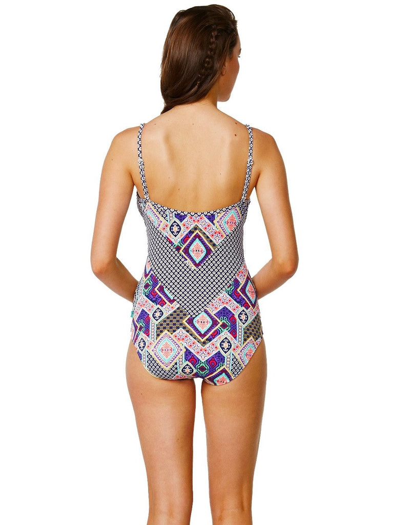 Modern Folk Swimsuit-One-piece-Let's Beach