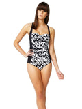 Slimming Effect Black&White Swimsuit - Let's Beach