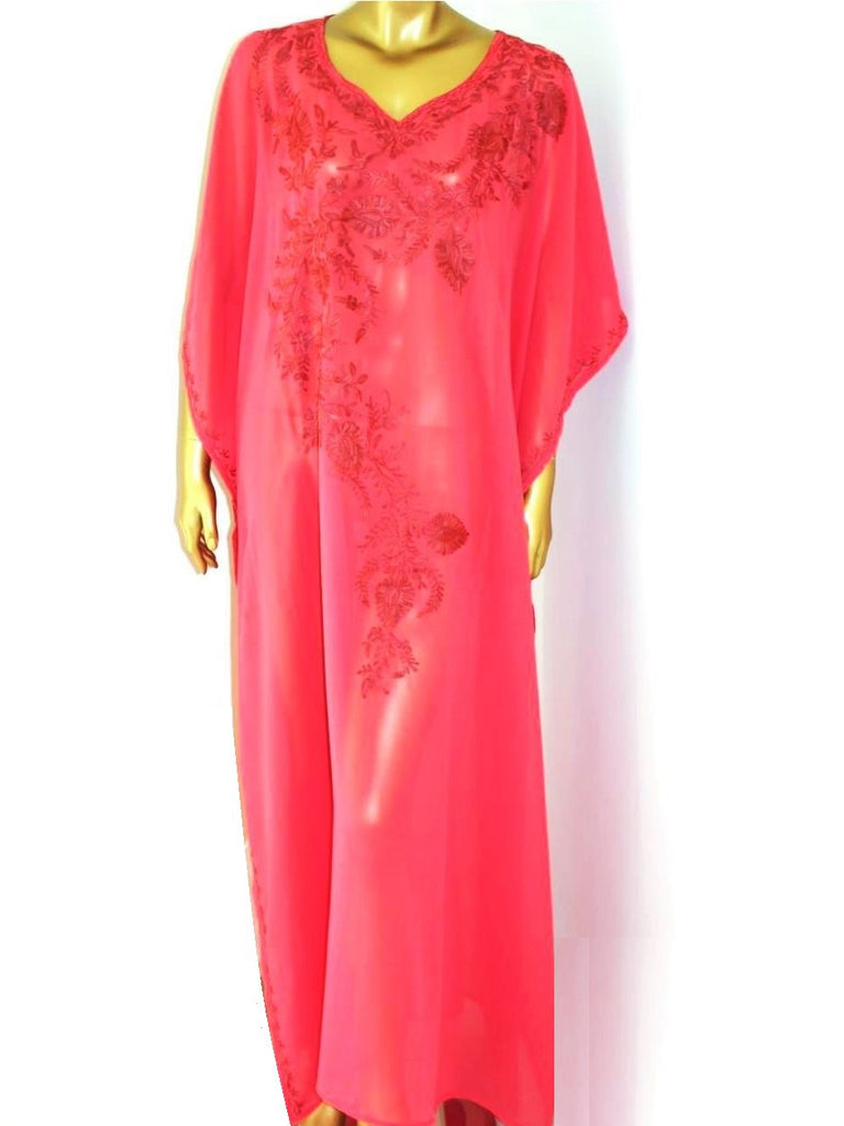 Red Embroidered Kaftan