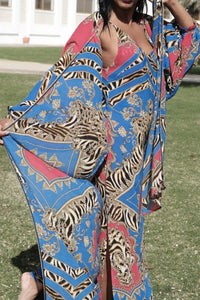 Versace print Kaftan set - Let's Beach