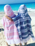 Kids Egyptian cotton ponchos - Let's Beach