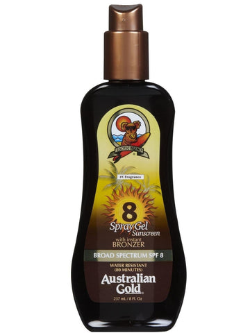 Australian Gold Spray Gel with Bronzer - SPF 8 - Let's Beach
