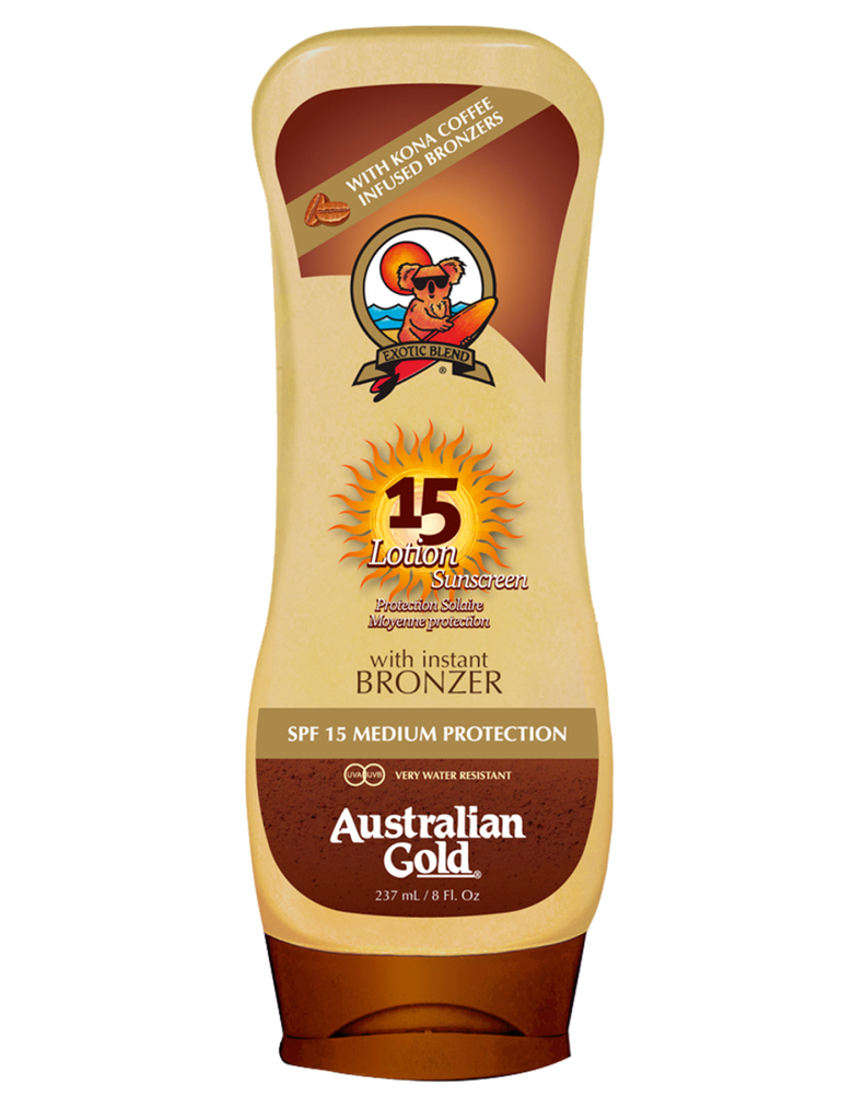 Coffee Bronzer Lotion - SPF 15 - Let's Beach
